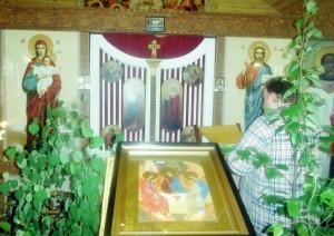 Икона праздника Сошествия Святого Духа (Троицы)